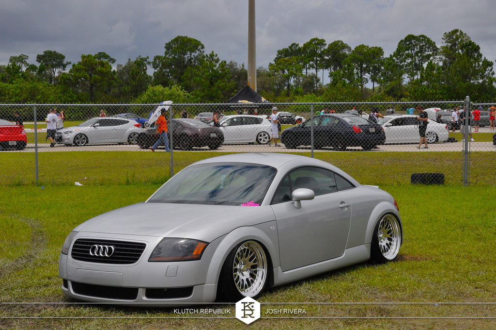 grey mk1 audi tt 225 180 bagged polished ccw classics  slammed society at formula drift palm beach florida 2013 slammed dropped dumped bagged static coilovers hella flush stanced stance fitment low lowered lowest camber wheels tucked 16s 17s 18s 19s 20s 3piece 1 piece custom airbags scene scenester
