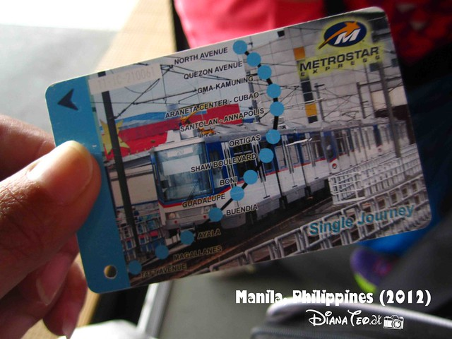 Day 6 - Philippines Metrostar Ticket