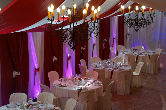 Decorations Salle Mariage Roug Et Blanc