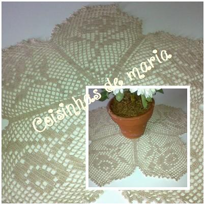 toalha de crochet by Coisinhasdemaria