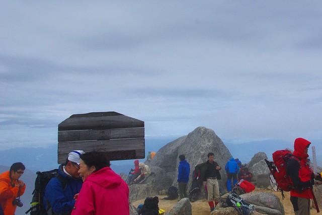 甲斐駒ヶ岳の山頂