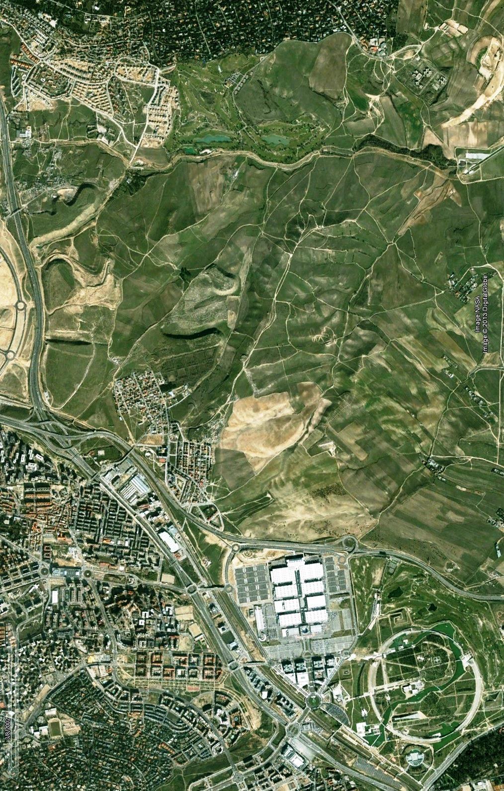 antes, urbanismo, foto aérea, desastre, urbanístico, planeamiento, urbano, construcción, Valdebebas, Madrid, Hautôvia