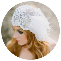 Beaded Bridal Cap