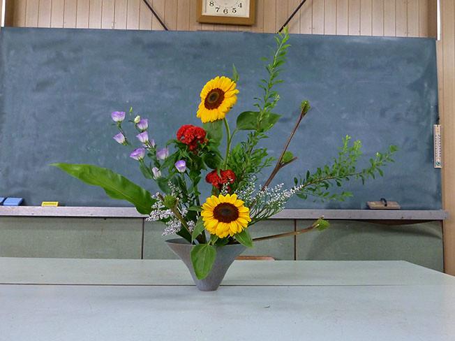 【盛花】ヒマワリ、イガナス、ケイトウ【2013_07_20】