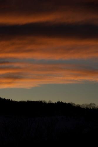 sunset usa clouds landscape vermont place quechee