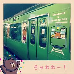 (∩゚∀`∩)キャ―!!! #リラックマ #山の手線  #cute #train
