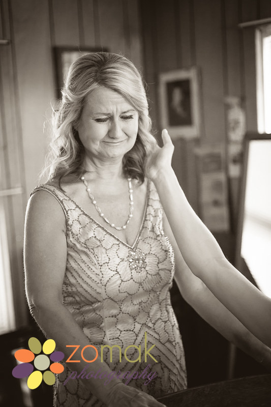 Mother of the bride gets emotional on her daughter's wedding day