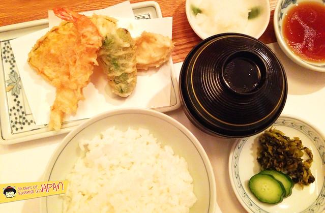 Tempura Tsunahachi - Shinjuku - Takashimaya - tempura set meal