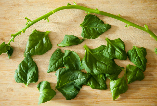 Baked Spinach Chips are made with fresh spinach.  They're the perfect, salty, healthy snack!