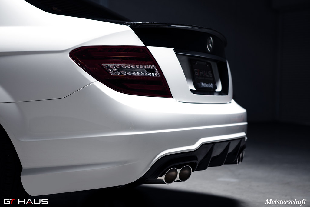 Meisterschaft performance exhaust systems for w204 c300 for Mercedes benz c300 aftermarket accessories