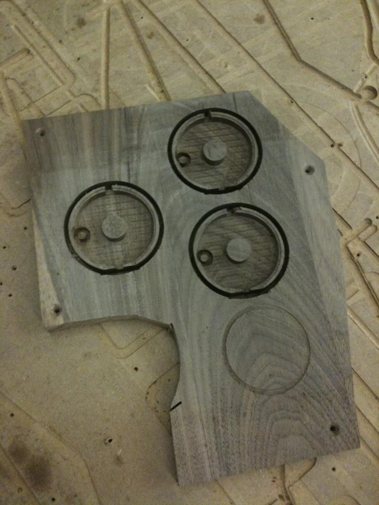 CNC'd walnut blanks