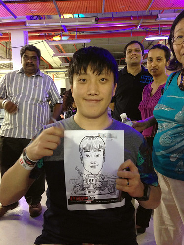 caricature live sketching for NTUC U Grand Prix Experience 2013 - 50