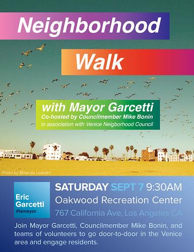 Mayor Garcetti Venice Beach