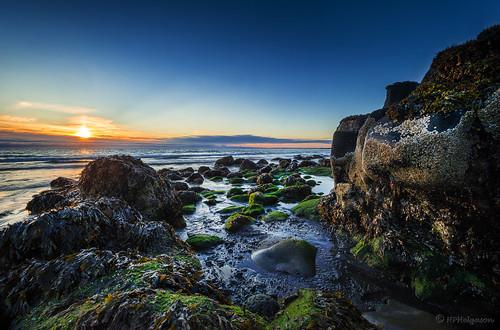 light sunset iceland rocks shore birta fjara klettar sólsetur hphson