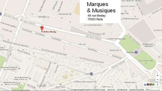 Contact Marques & Musiques Paris Adresse