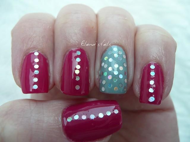 raspberry bavarois + silver glitter 1
