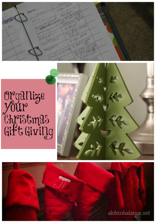 Making a List and Checking it Twice: Organizing for Christmas Gift Giving