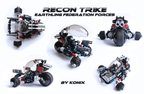Multi views of the Recon trike