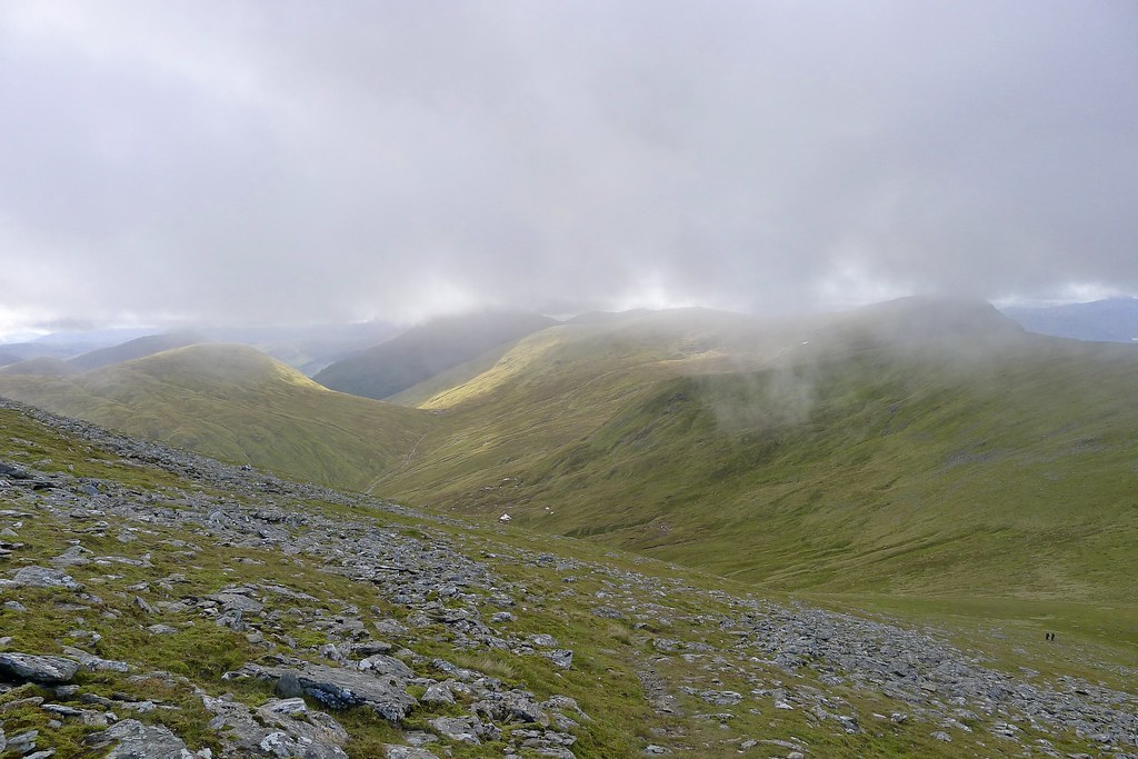 Cloud over the Beinn Achaladair group