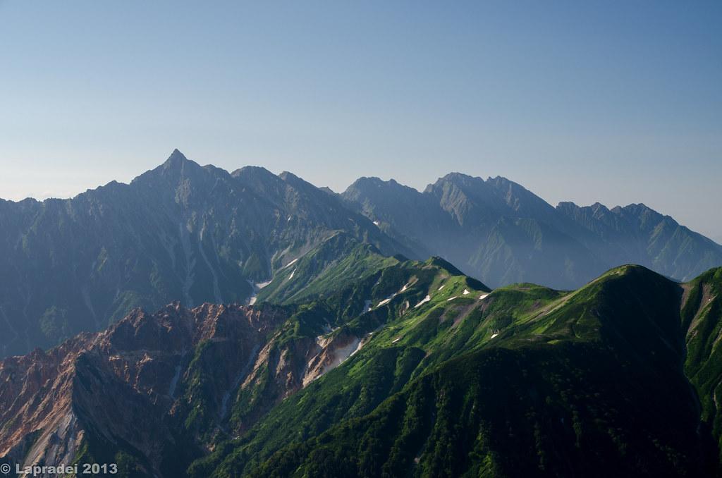 西鎌尾根と槍ヶ岳