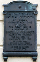Photo of Brinley Richards bronze plaque