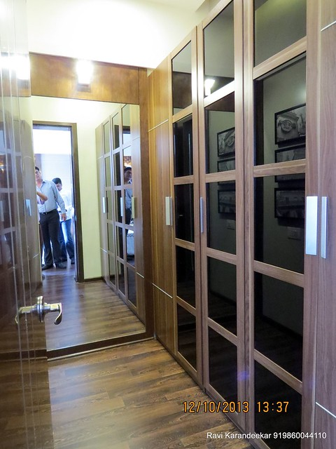 "Walk in wardrobe of 12' x 15' 6"" Master Bedroom -  Did you visit the 4 BHK show flat of Metro Jazz, opposite VITS Hotel,  Mhalunge - Baner Annex?"