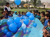 Blue Color Day: Flip the balloon