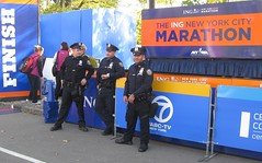 NYC Marathon and NYPD at the Finish