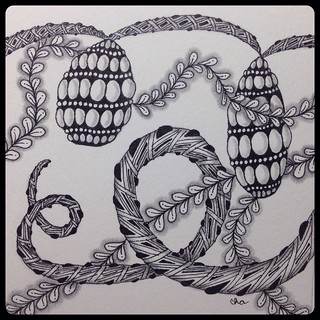 Zentangle : Tangling Vines