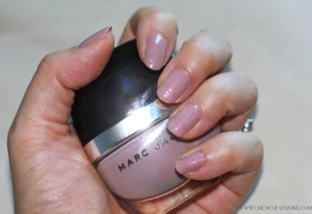 Marc Jacobs Fluorescent Beige nail polish with bottle by Chic n Cheap Living