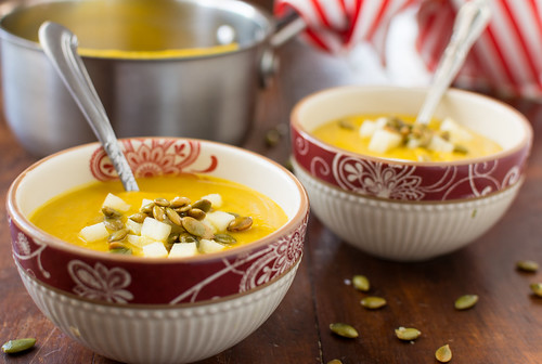 Kabocha Squash and Celeriac soup