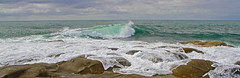 Waves rolling in at Yamba