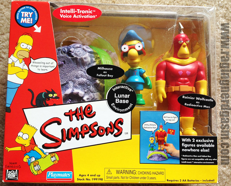 Playmates Play sets The Simpsons Lunar Base Milhouse and Radioactive Man