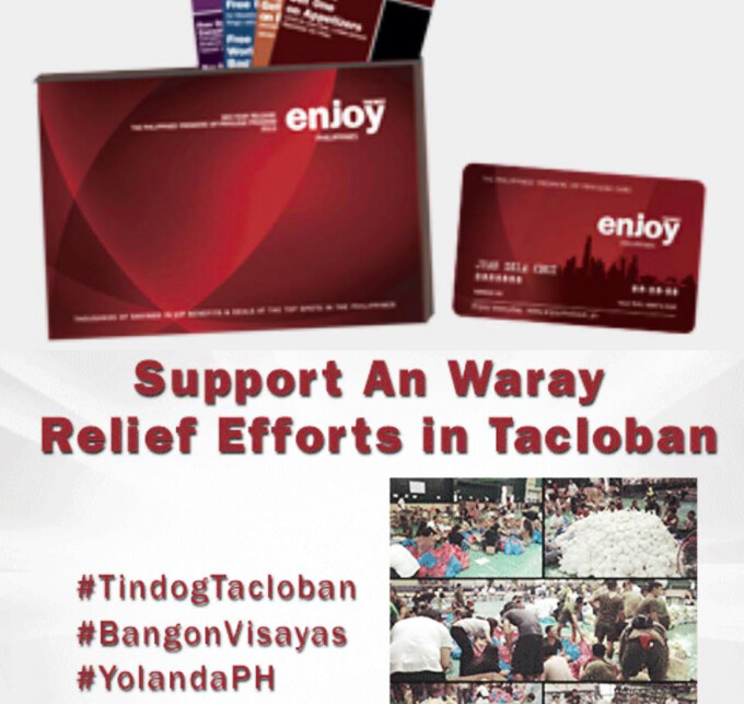 ENJOY PHILIPPINES SUPPORTS AN WARAY RELIEF EFFORTS IN TACLOBAN