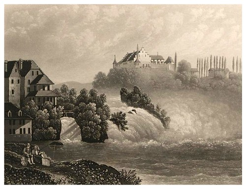 002-Cascada del Rhin desde la orilla derecha-Cinquante vues pittoresques de la Suisse… -Vía e-rara