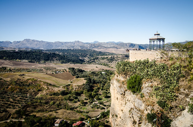 Stunning views of the surrounding mountains in Ronda, Spain