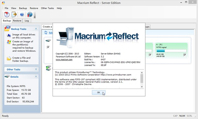 Macrium Reflect Server 5.2.6437