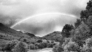 Rainbow, Fort Davis State Park, Texas, infrared
