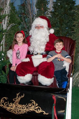 Visiting Santa 2013
