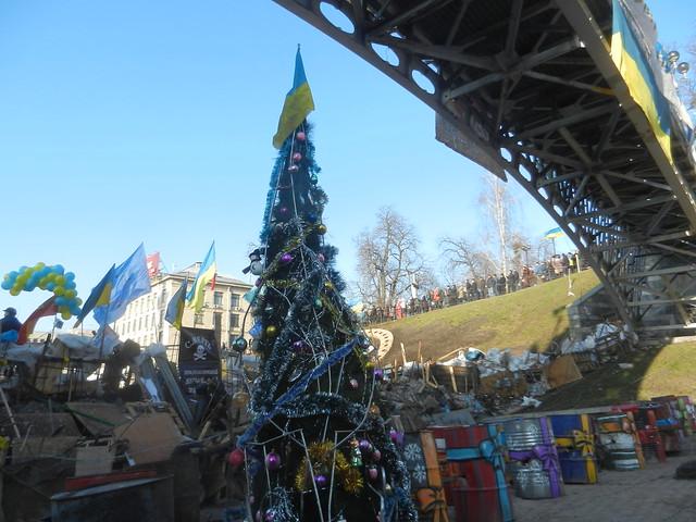 Ноовый год на баррикадах в Киеве