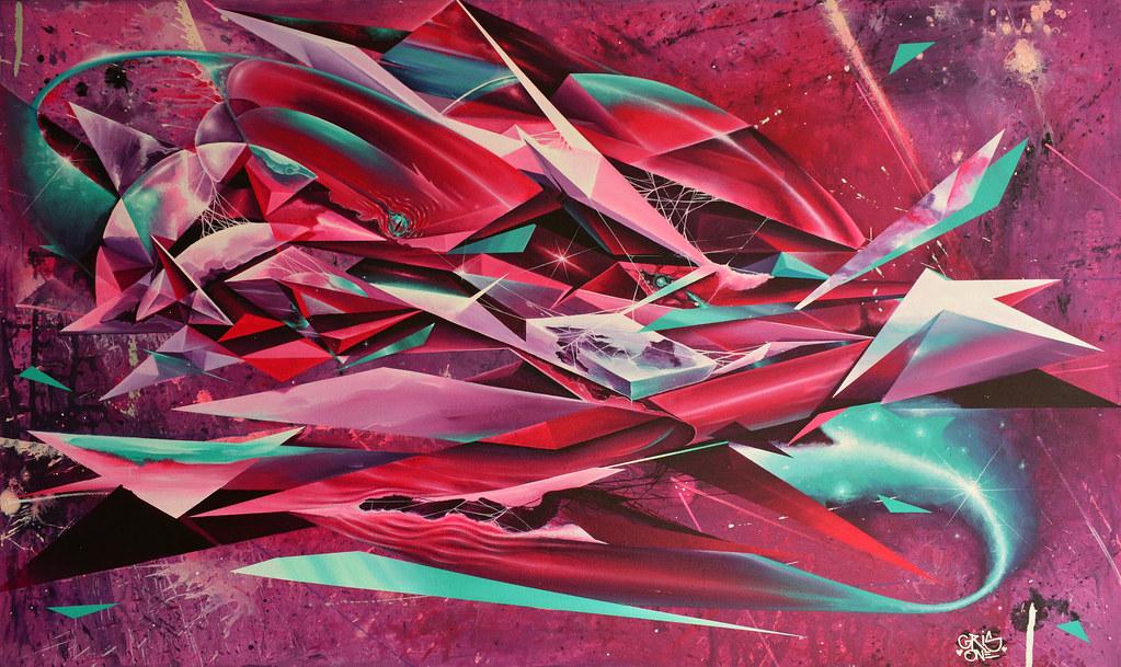 Moon Shark Acrylic On Canvas 70 X 120 Cm 2013 Gris One Flickr