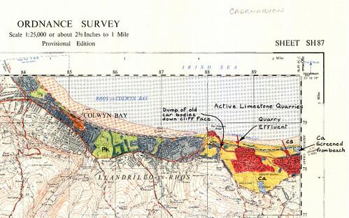 John Whittow當年走訪的地圖手繪稿(National Trust版權所有)