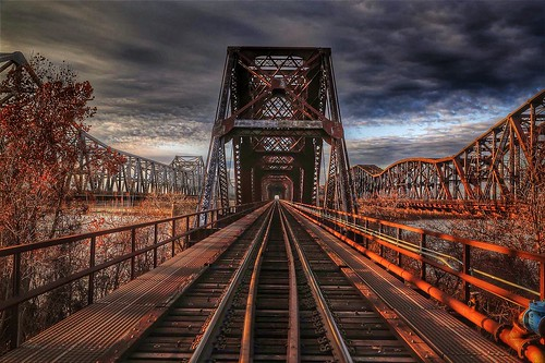 railroad sunset rust memphis tennessee bridges rusty mississippiriver railroadbridge hdr harahan memphisbridges