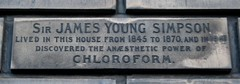 Photo of James Young Simpson stone plaque
