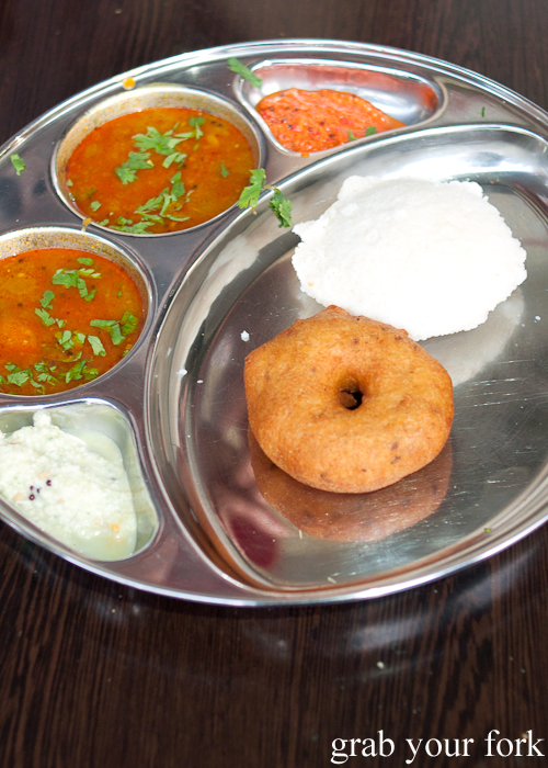 Medu and idli vada sambhar at Chatkazz Harris Park