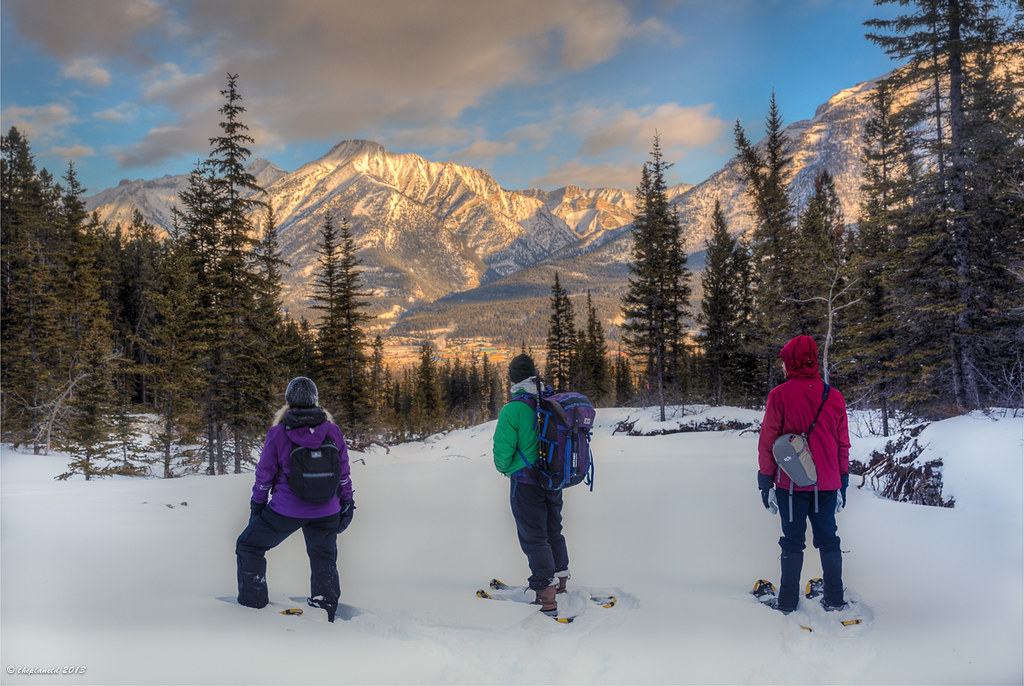 snowshoeing Alberta