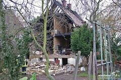 Bergungsarbeiten nach Hausexplosion Kastel 03.02.14