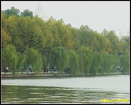 杭州 西湖 (其他景點) - 138 (從白堤上回望北山路湖畔)
