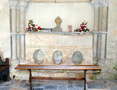 13th C. shrine to St Wite (aka St Candida), the Church of St Candida and Holy Cross, Whitchurch Canonicorum, Dorset, England