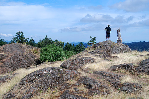The Hilltop at Lone Tree Hill Park, Highlands, Saanich Peninsula, Victoria, Vancouver Island, British Columbia, Canada